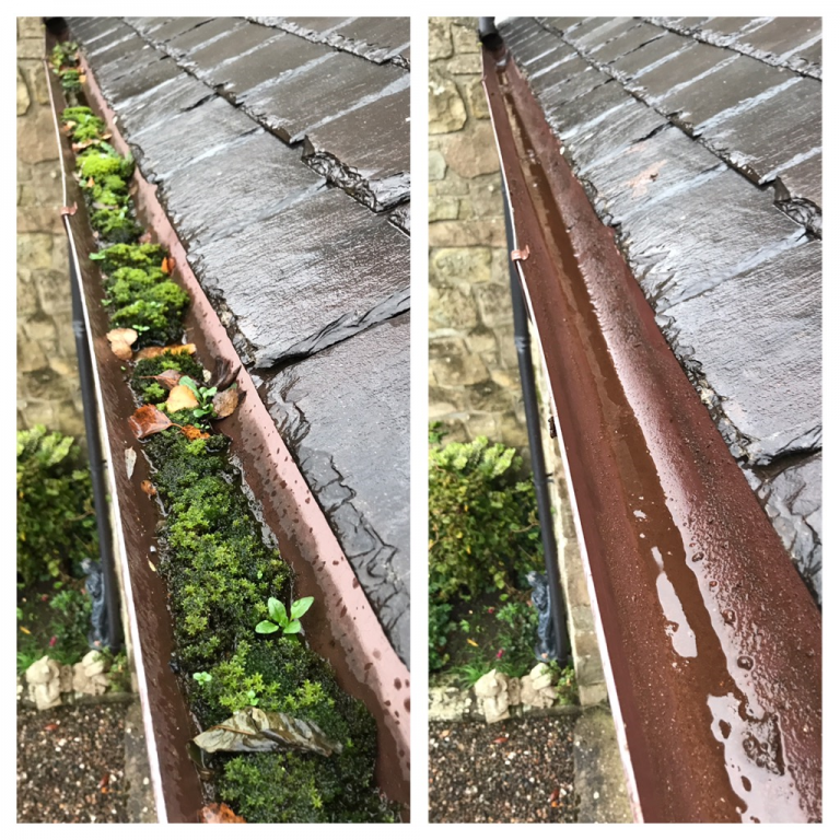Gutter cleaning in Fife