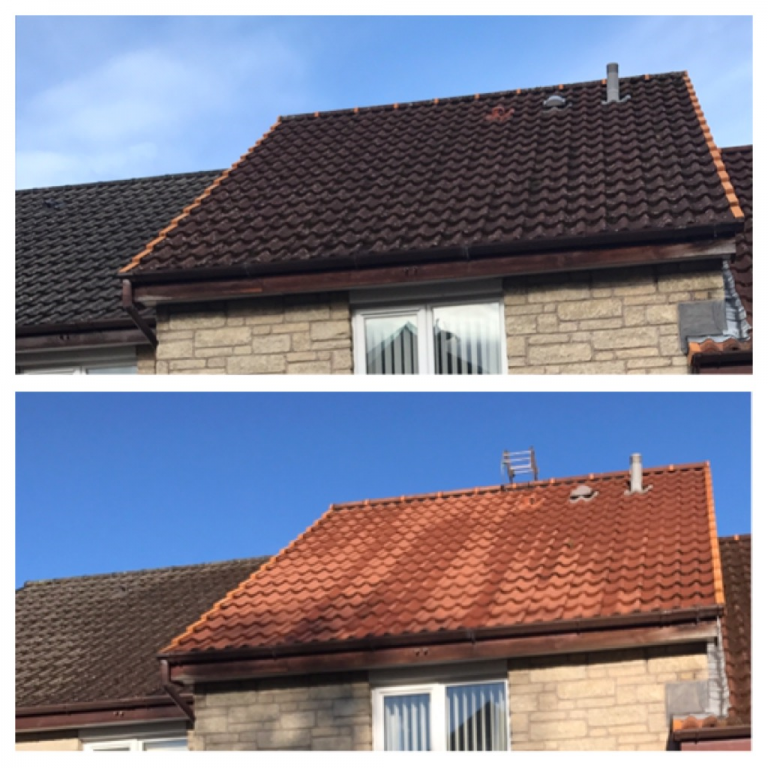 Roof cleaning in Fife